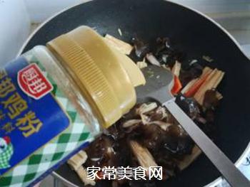 芹菜木耳炒腐竹的做法步骤:11