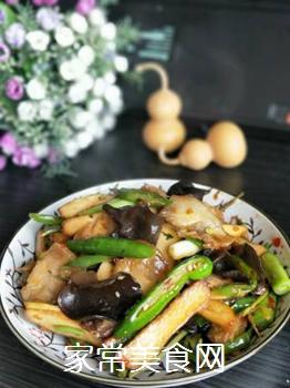 【川菜】香干回锅肉的做法步骤:18