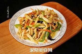 小炒海鲜菇#晚餐#的做法步骤:6