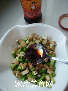 老干妈蒜薹拌香干的做法步骤:8
