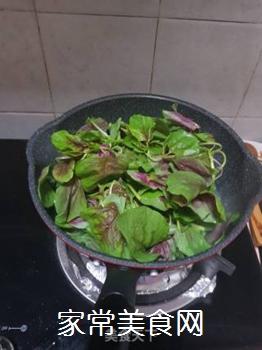 盐油水煮红苋菜的做法步骤:4