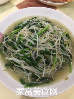 绿豆芽炒韭菜的做法步骤:8
