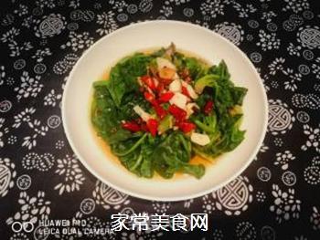 油泼菠菜的做法步骤:6