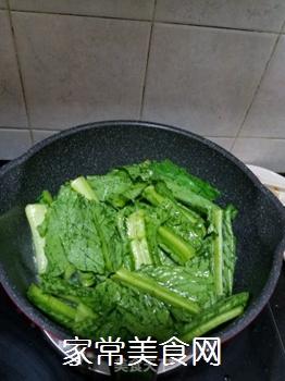 蒜蓉炒苦麦菜的做法步骤:4