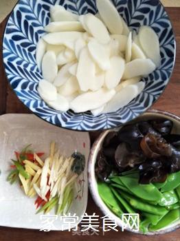 荷兰豆炒山药的做法步骤:5