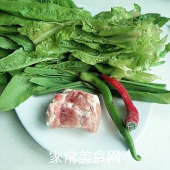 辣炒油麦菜的做法步骤:1