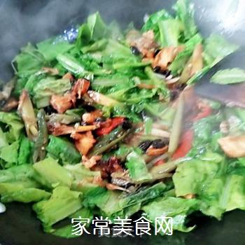 辣炒油麦菜的做法步骤:9