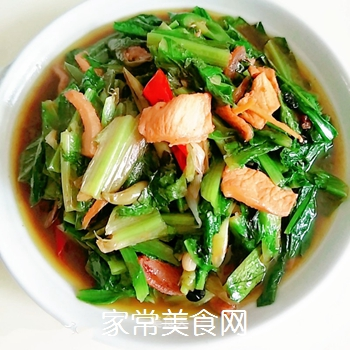 辣炒油麦菜的做法