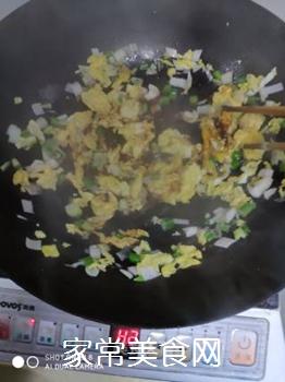 快手素菜 茼蒿鸡蛋的做法步骤:7
