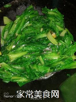 素炒油麦菜的做法步骤:5