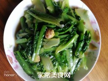 素炒油麦菜的做法步骤:6