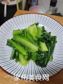 蒜蓉炒油麦菜的做法步骤:5