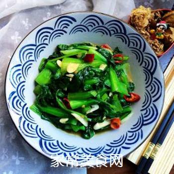 炒青菜的做法步骤:9