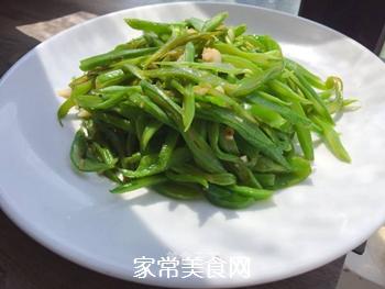 清炒刀豆(减脂餐)的做法