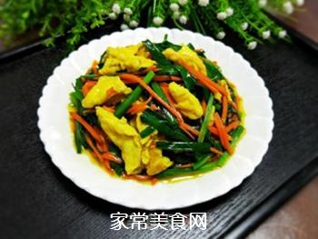 韭菜炒蛋的做法步骤:8