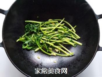 蒜香蓬蒿菜的做法步骤:6