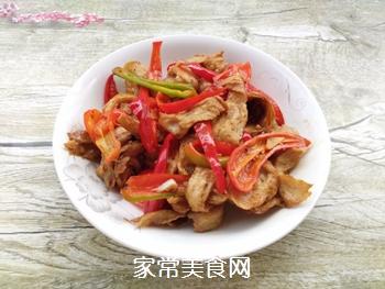 红椒炒面筋的做法