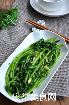 蒜香蓬蒿菜的做法