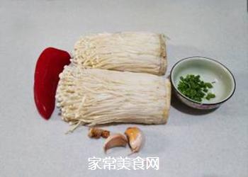 红椒拌金针菇的做法步骤:1
