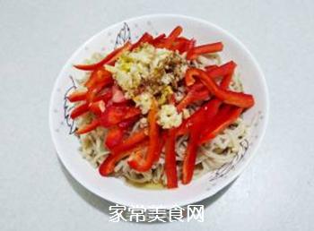 红椒拌金针菇的做法步骤:13
