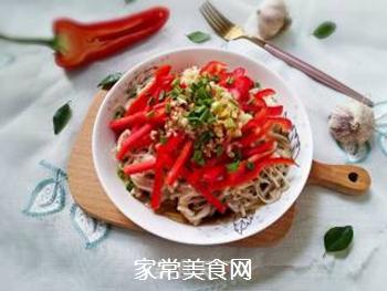红椒拌金针菇的做法步骤:14