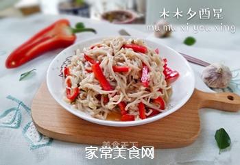 红椒拌金针菇的做法