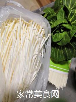 青菜汤面的做法步骤:1