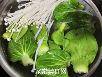 青菜汤面的做法步骤:2