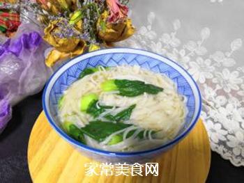 青菜汤面的做法步骤:9