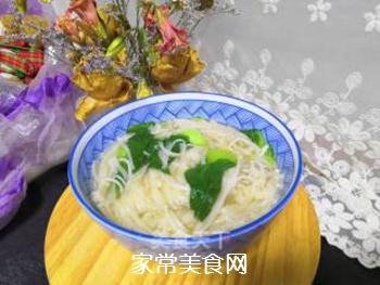 青菜汤面的做法步骤:11