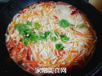 西红柿胡萝卜汤面的做法步骤:8