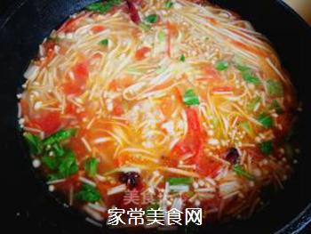 西红柿胡萝卜汤面的做法步骤:9