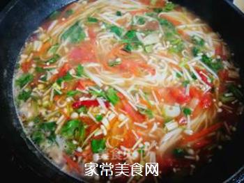 西红柿胡萝卜汤面的做法步骤:12