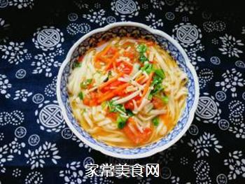 西红柿胡萝卜汤面的做法步骤:13