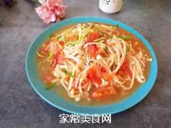 金针菇炒西红柿的做法步骤:6