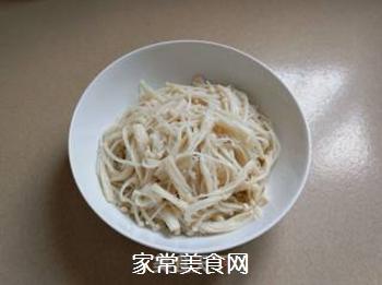 凉拌金针菇的做法步骤:3