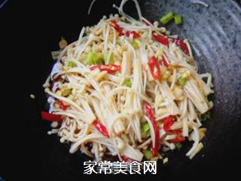 凉拌金针菇的做法步骤:9