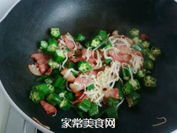 秋葵培根金针菇的做法步骤:11