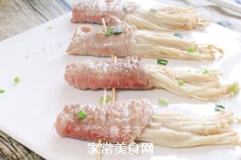 里脊肉金针菇卷的做法步骤:8
