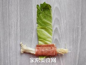 培根金针菇包菜卷的做法步骤:7