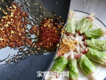 培根金针菇包菜卷的做法步骤:10