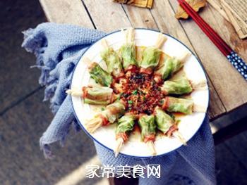 培根金针菇包菜卷的做法步骤:12