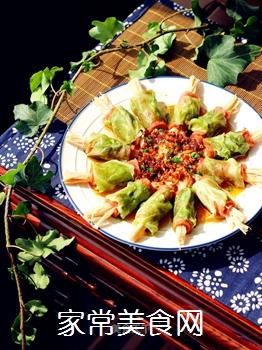 培根金针菇包菜卷的做法
