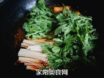 茼蒿煮粉条的做法步骤:6
