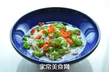 炝拌金针菇的做法步骤:8