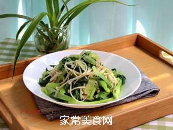 金针菇炒青菜的做法步骤:6