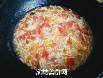金针菇蛋花汤的做法步骤:9