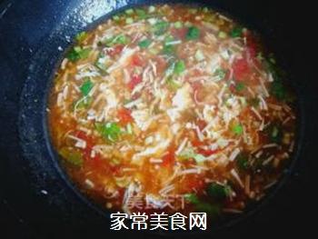 金针菇蛋花汤的做法步骤:11