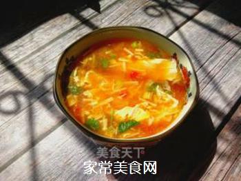 金针菇蛋花汤的做法步骤:13