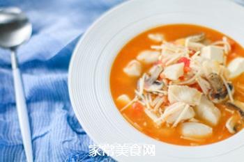 番茄龙利鱼汤的做法步骤:9
